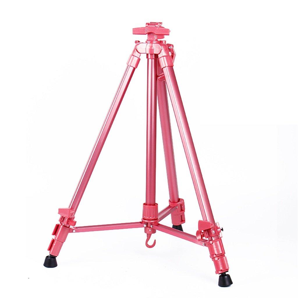 イーゼル カラーアルミ崩壊イーゼルハンドメタルイーゼルトレイスケッチスケッチフレームブラケットイーゼル4色オプション (色 : Pink)  Pink B07JQX1XVL