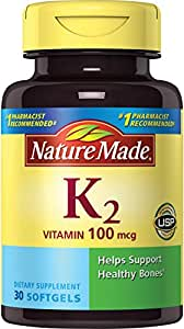 Nature Made Vitamin K2 100 mcg Softgels 30 Ct