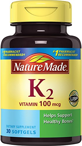 Nature Made Vitamin K2 Softgel, 100 Mcg, 30 Count