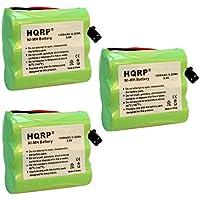 HQRP 3-Pack Battery Uniden BT-1006 BT1006 EX945 EX965 EXA2245 EXA2850 EXA2950 EXA7250 EXA7950 EXA8955 EXA915 EXA918 EXAI4248 EXAI42482 EXAI4580 EXAI4581 Cordless Phone Plus Coaster