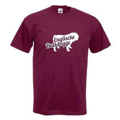 KIWISTAR - Englische Bulldogge mit Name T-Shirt in 15 verschiedenen Farben  - Herren Funshirt