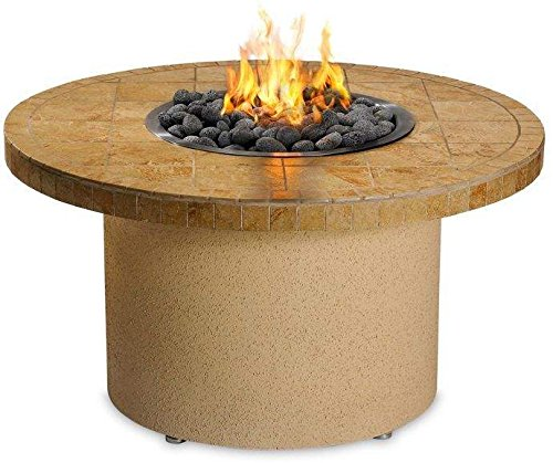 Sedona By Lynx Sandalwood Circular Gas Fire Pit Table, Propane