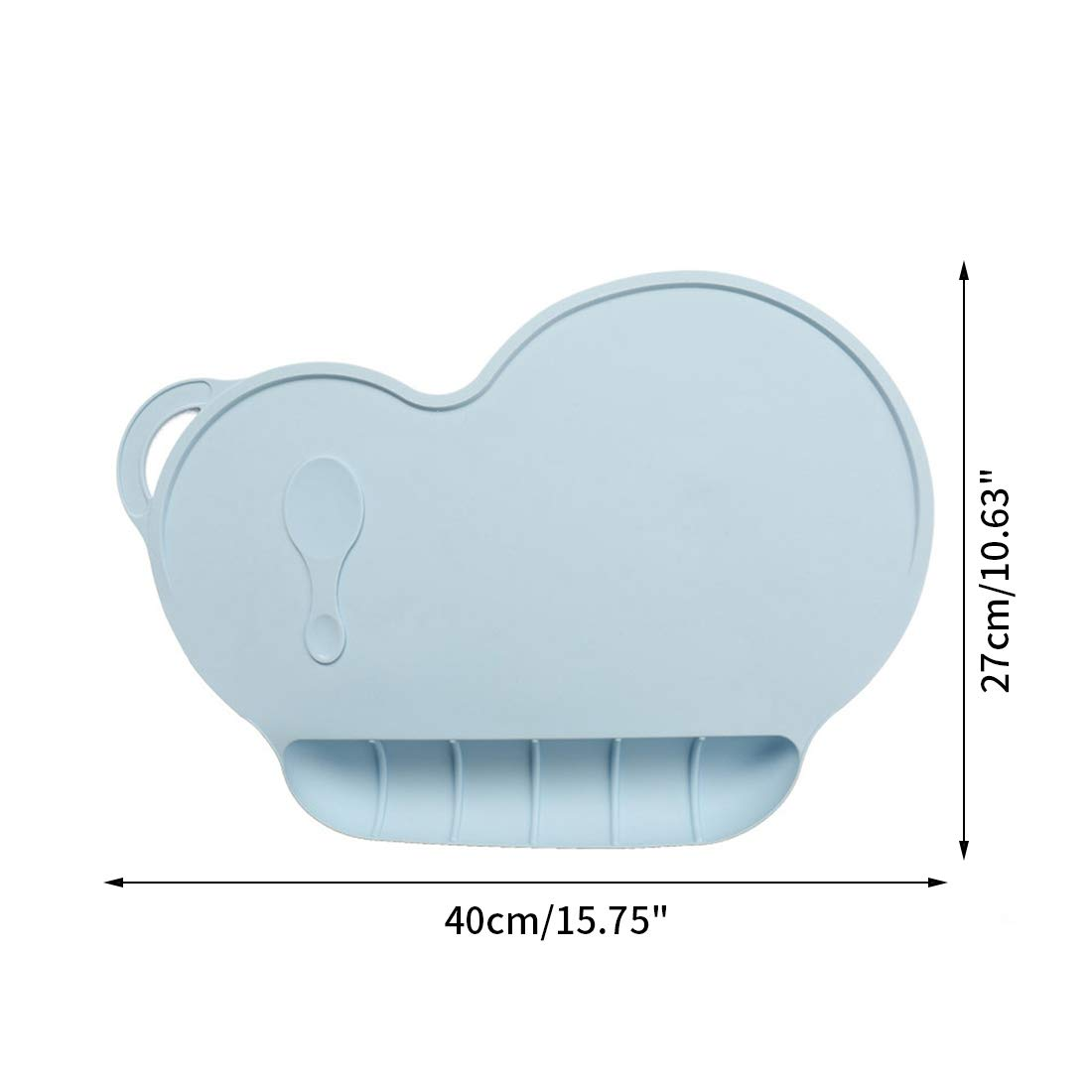 YUENA CARE Salvamantel de Beb/é Mantel Mat Mantel Individual de Silicona Estera de Tabla Para Beb/é y Ni/ño con Ventosa Antideslizante Azul