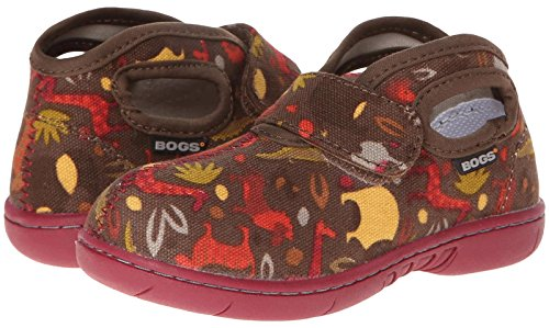 Bogs Kids Baby Boy's Baby Bogs Mid Canvas (Toddler) Brown Multi Sneaker 7 Toddler M (Toddler Brown Multi Footwear)