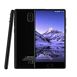 LEAGOO KIICAA Mix 5.5 Inch Bezel-Less Display 4G Smartphone MTK6750T Octa Core 3GB+32GB 13MP Android 7.0 (Black)