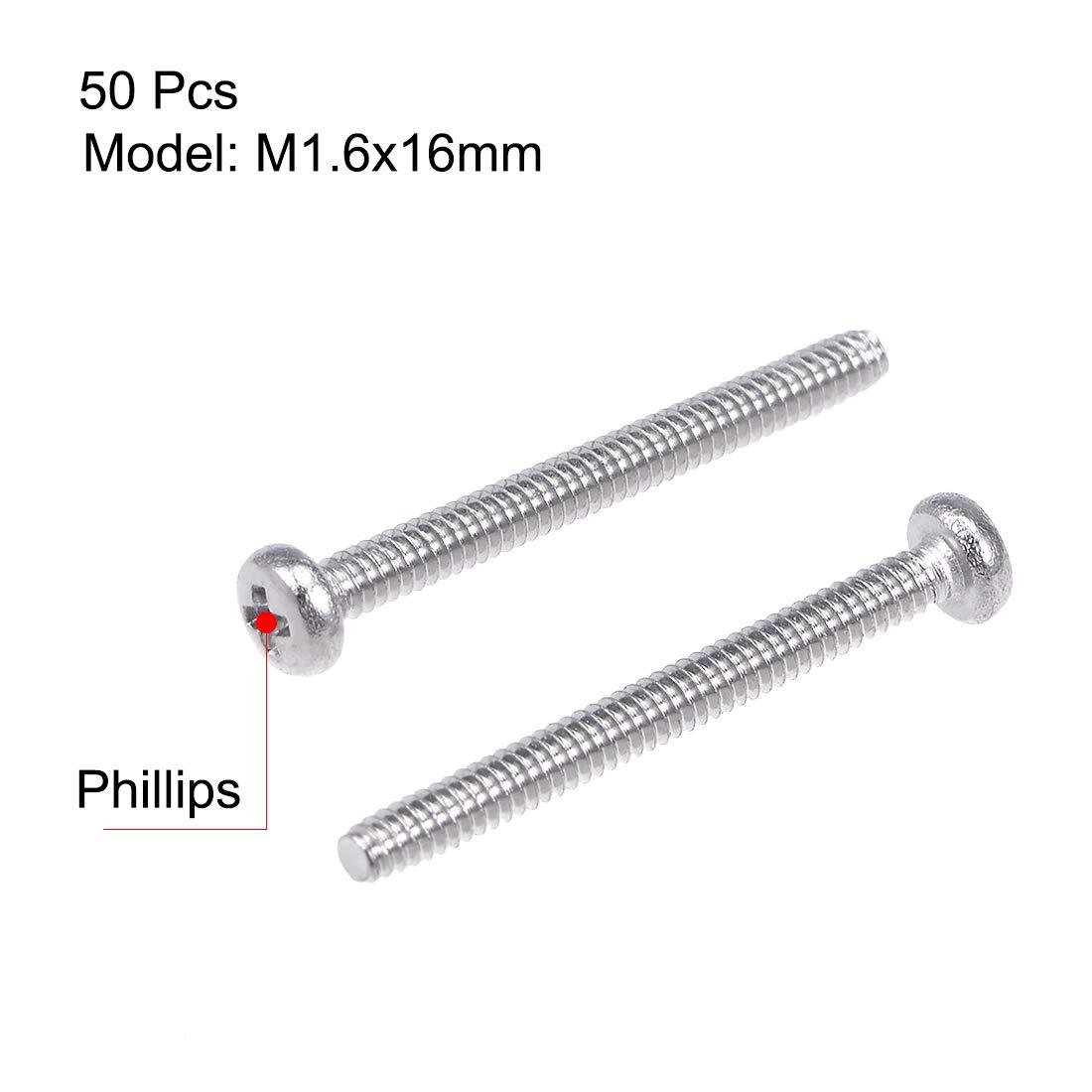 acero inoxidable, 304 Tornillos Phillips para m/áquina Sourcingmap