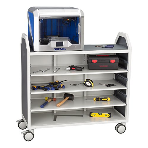 Learniture Profile Series Mobile Storage Cart with Adjustable Shelves, LNT-GNO3045-SO by School Outfitters