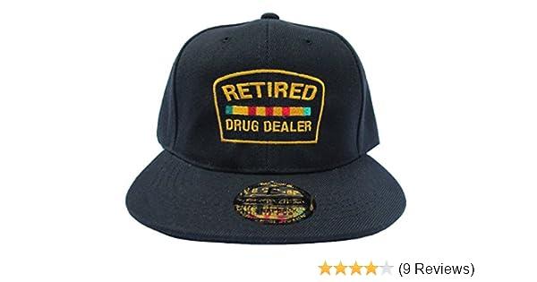 RobsTees Retired Drug Dealer Black Streetwear Adjustable Snapback Hats Caps at Amazon Mens Clothing store: