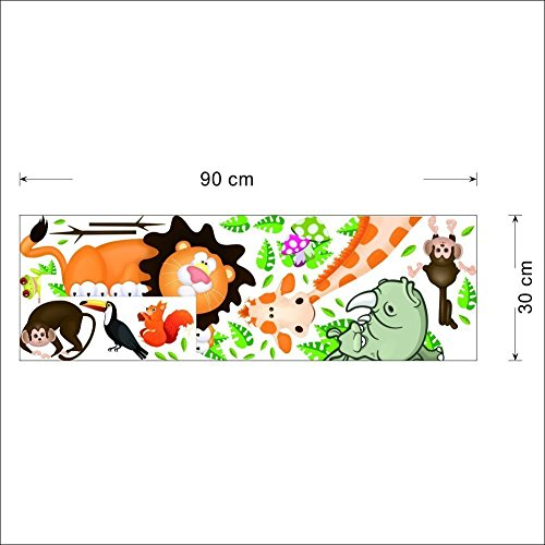 ElecMotive Jungle Wild Animal Vinyl Wall Sticker Decals for Kids Baby Bedroom (Lion Theme) 7