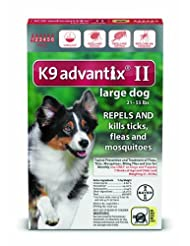 Bayer K9 Advantix II Flea, Tick and Mosquito Prevention for L...