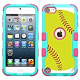 Best Tough Cases For IPods - One Tough Shield 3-Layer Hybrid Case (Teal/Pink) Review