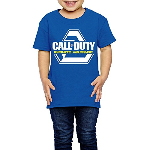 Price comparison product image Kids Boy's & Girl's First-person Shooter Video Game Funniest Shirt Size 5-6 Toddler RoyalBlue