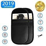 2 PCS Key Signal Blocker Case - Car Keyless Entry Fob Guard RFID Signal Blocking Pouch Bag, Antitheft Lock Devices, Keyfobs for WiFi/GSM/LTE/NFC/RF...
