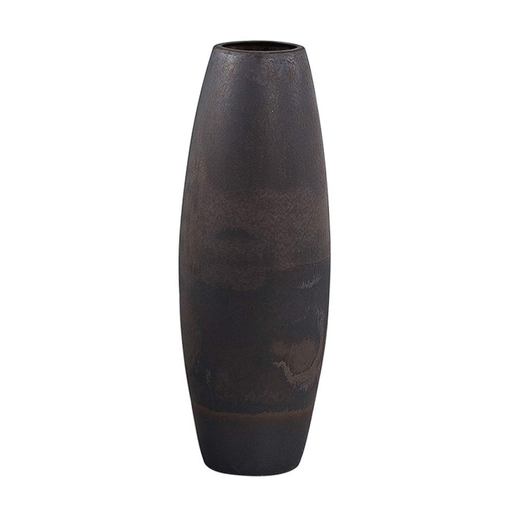 ファッション無地セラミック床大花瓶クリエイティブリビングルームホテル装飾花瓶アートレトロホームアクセサリー B07S9Z2CS9