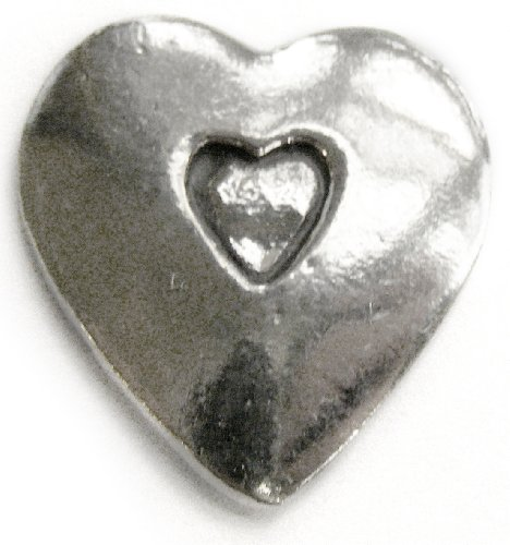(Basic Spirit Heart shape/Open your heart Pocket Token (Coin) * Handcrafted Pewter Lead-Free CN-12)