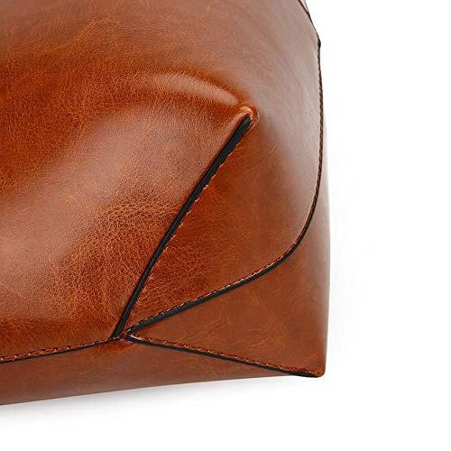 Bolso Marrón marrón Camel para MANYYSI única mujer hombro camel talla al BPRWSwZxq