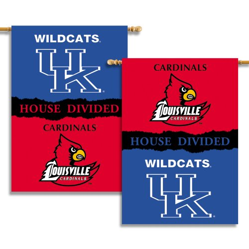 (NCAA Kentucky - Louisville 2-Sided 28-by-40 inch House Banner with  Pole Sleeve- Rivalry House Divided)