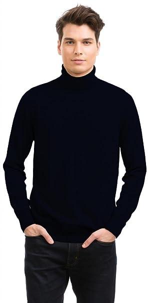 moda firmata 27a6c 68a59 Citizen Cashmere Maglione Collo Alto Uomo - 100% Cachemire