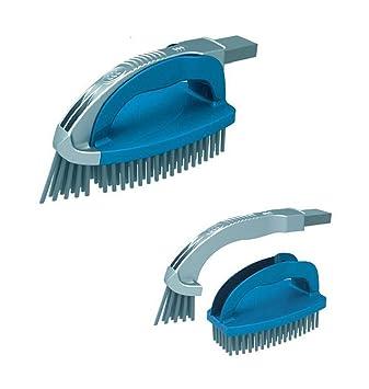 acuariofilia welt24 2 en 1 mano cepillo especial limpiador para esquinas y bordes para piscinas Cepillo Lavado Pool Robot aspirador para suelo de piscina ...