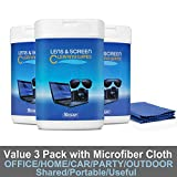 Monitor Wipes, Pre-Moistened Computer Screen Wipes