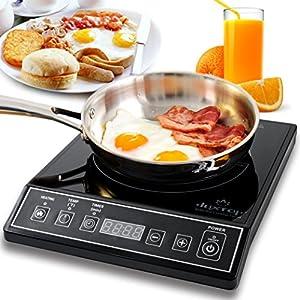 Secura 9100MC 1800W Portable Induction Cooktop Countertop Burner, Black