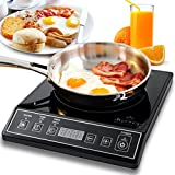 induction and gas cooktop - Secura 9100MC 1800W Portable Induction Cooktop Countertop Burner, Black