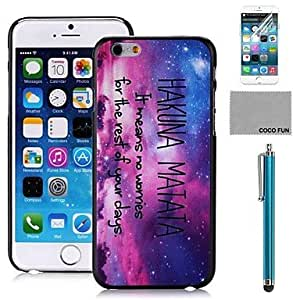 LCJ Dot Night Pattern PC Hard Back Case Cover with Screen Protecter, Stand and Stylus for iPhone 6 6G 5.5