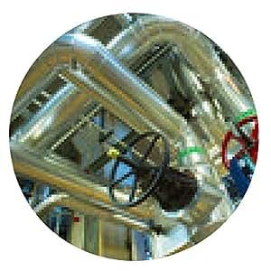 alfombrilla de ratón Equipo, cables y tuberías que se encuentran en el interior de un moderno industr - ronda - 20cm