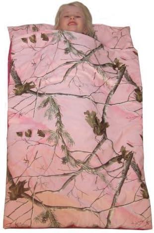 Camo Kids Realtree AP Pink Slumber Sleeping Bag /& Animal Pillow Black Lab Pillow