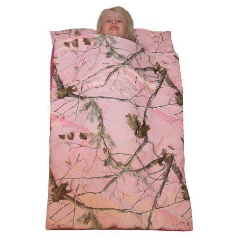 Camo Kids Realtree AP Pink Slumber Sleeping Bag & Animal Pillow (Black Lab Pillow)