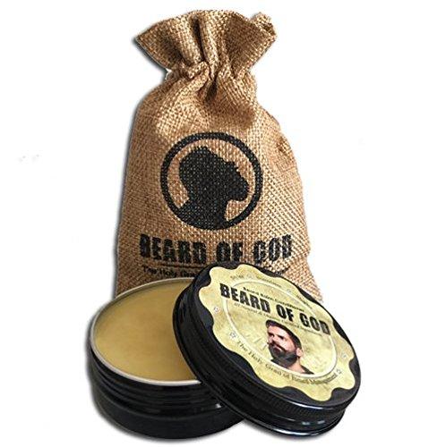 Beard of God 2oz BALM Conditioner & Burlap Sack • HEMP Cannabis Sativa • Made to Order • Organic • Tames Wild Hairs • Sensitive Skin