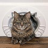Cat Door Built In Interior Pet Door for Small, Medium, & Large Cats - Cat Doors for Interior Doors - Hole Pass Fits Indoor Hollow Core or Solid Inside Doors - Hidden Kitty Litter Box Cat Furniture
