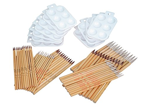 - Royal Brush Ox and Goat Hair Bamboo Brush Classroom Assortment, Assorted Size, Pack of 84