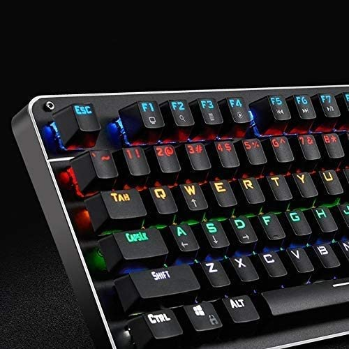 LMDH Mechanical Gaming Keyboard Compact Computer Keyboard for Windows PC Gamers