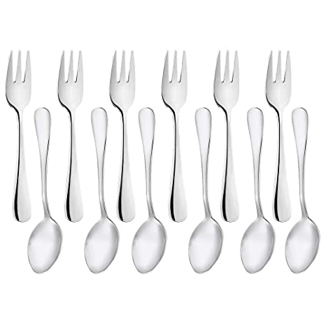 Amazon.com: Demitasse - Juego de tenedores de postre (12 ...
