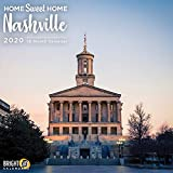 2020 Nashville Home Sweet Home Wall Calendar by Bright Day, 16 Month 12 x 12 Inch, Grand ole Opry Music City USA Evergreen Hometown Travel Destination Inspiration
