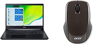 """Acer Aspire 7 Laptop, 15.6"""" Full HD IPS Display, AMD Ryzen 5 3550H, NVIDIA GeForce GTX 1650, 8GB DDR4, 512GB with Acer Wireless Optical Mouse"""