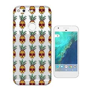 "c00962 - Collage Pineapple Sugar Skulls Sun Glasses Design Google Pixel XL 5.5"" Fashion Trend CASE Gel Rubber Silicone All Edges Protection Case Cover"