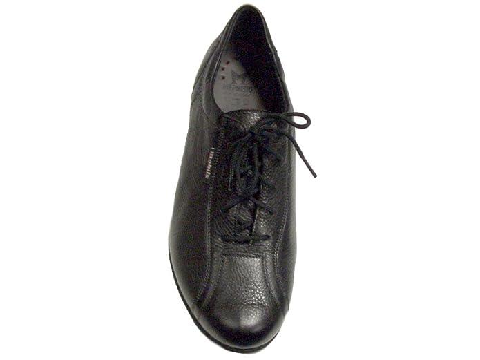 Mephisto - Sabi Negro - Calzado casual de la línea Mobils, con plantilla extraíble. Terminado en piel. (6 1/2)