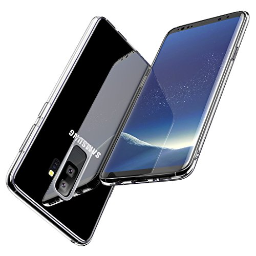 Samsung Galaxy S9 Plus Case,Humixx Transparent Tempered Glass Back & TPU Soft Bumper Cover Crystal Clear Glass Case Anti-Scratch Shock Absorption Protective [Crystal Series] for Galaxy S9 Plus