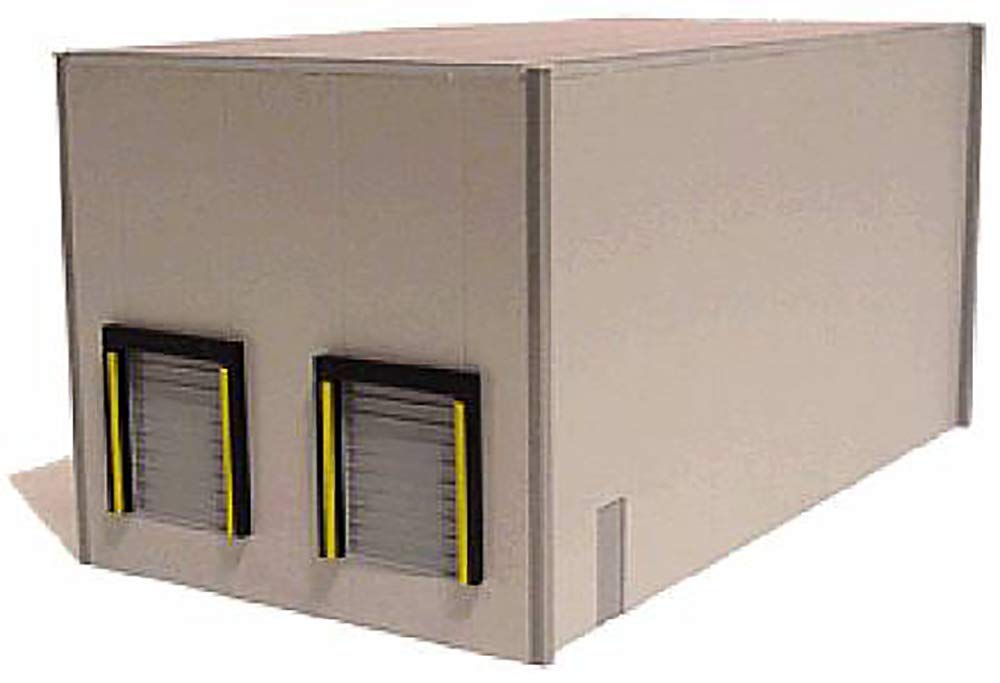 モダンデュアルベイ倉庫(グレー) スケール 1/87 (HO) スケール モデル B07HDCR486