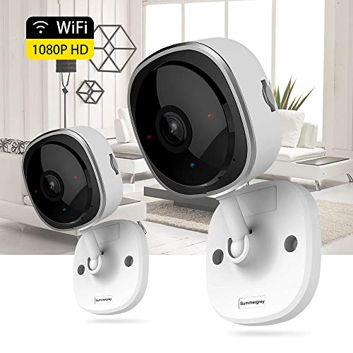 Wireless Security Camera 1080P,180 Degree Panoramic Camera with Motion Detection,Night Vision,Two-Way Audio,Home Security WiFi IP Camera for Office/Baby/Nanny/Pet Monitor (2 Pack)