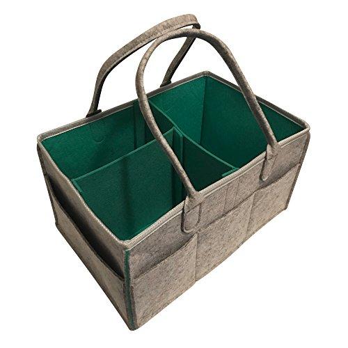 Unisex Nursery (Baby Diaper Caddy Organizer- Nursery Diaper Storage Basket | Changing Kits Portable Car Organizer for Wipe Toy bin | Baby Shower Gift | Decorations for Boy and Girl Newborn)