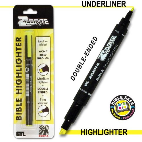 Zebrite Double Ended Highlighter - Yellow Carded PDF