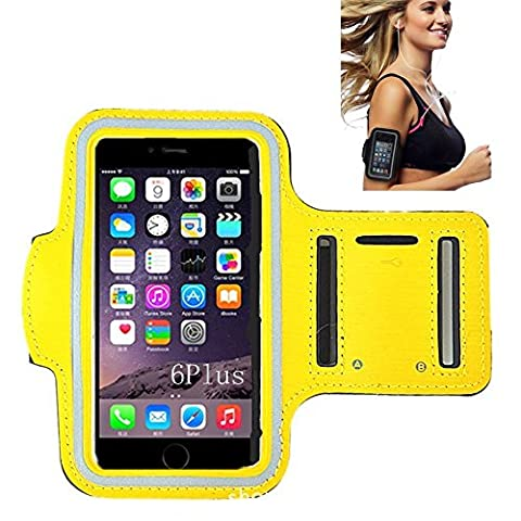 iPhone 6 Armband, Morris Water Resistant Sports Armband with Key Holder for iPhone 6, 6S (4.7-Inch), Galaxy S3/S4, iPhone 5/5C/5S, Bundle with Screen Protector (Waterproof Ipod 4 Case Yellow)