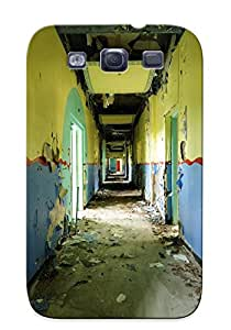 Kathewade Durable Defender Case For Galaxy S3 Tpu Cover(ruins Postapocalyptic Architecture ) Best Gift Choice