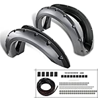 Ford F250 F350 Super Duty Pickup 4PC Black Fender Flare Wheel Cover
