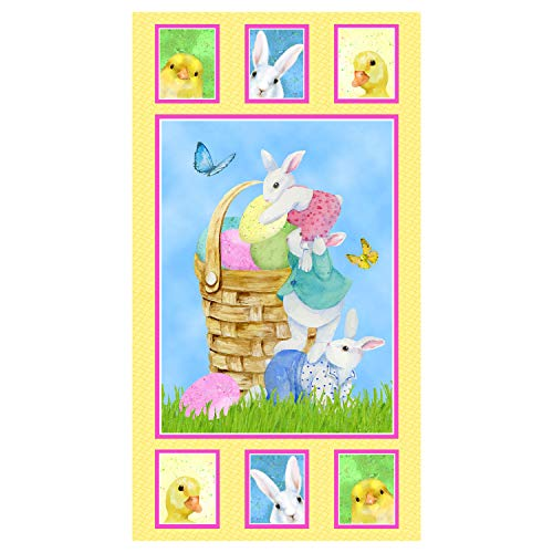Henry Glass Easter Parade 24in Bunny Panel Multi