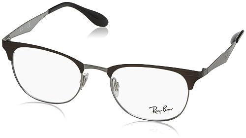 Ray-Ban 0Rx6346, Monturas de Gafas Unisex-Adulto, Top Brushed Dark Brown On Gunm, 50