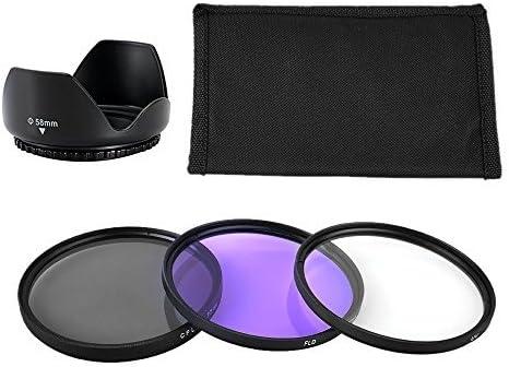 BPS 58mm Filtro Polarizador CPL+ Filtro UV + FLD +Flor Tulipán ...